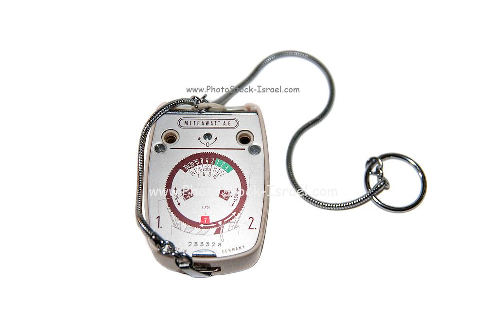 German made Metrawatt Horvex 3 (Circa 1960) Light meter on white background
