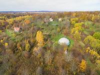 BLATUSA, CROATIA - 11 NOVEMBER 2017: Aerial panoramic view of Blatusa eco village, Eko selo, Croatia.