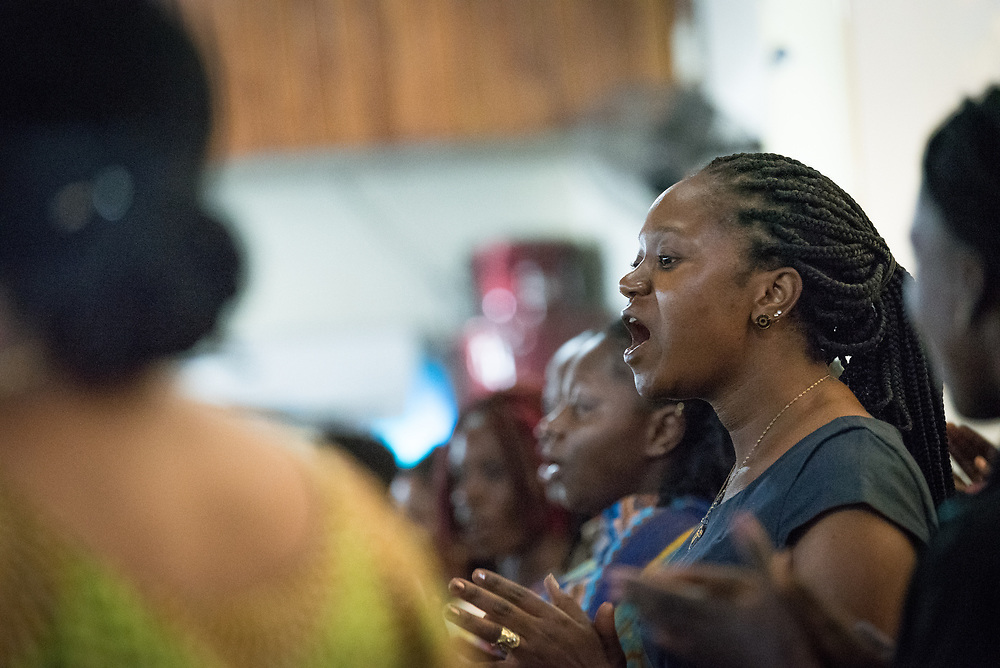 31 October 2019, Monrovia, Liberia: Choir sings as the Lutheran World Federation launches an SDG mapping for Liberia in Saint Peter Lutheran Church. The event takes place during the annual global meeting of the Waking the Giant initiative of the Lutheran World Federation.