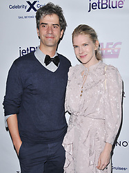 (L-R) Hamish Linklater and Lily Rabe arrives at Jessie Tyler Ferguson's 'Tie The Knot' 5 Year Anniversary celebration held at NeueHouse Hollywood in Los Angeles, CA on Thursday, October 12, 2017. (Photo By Sthanlee B. Mirador/Sipa USA)