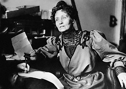 Emmeline Pankhurst, the founder of the Women's Social and Political Union, and a leading light in the suffragette struggle to gain women the vote in the UK during the first decade of the twentieth century.