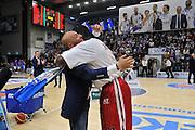 DESCRIZIONE : Beko Legabasket Serie A 2015- 2016 Dinamo Banco di Sardegna Sassari - Olimpia EA7 Emporio Armani Milano<br /> GIOCATORE : Stefano Sardara Rakim Sanders Maglia Scudetto<br /> CATEGORIA : Fair Play Before Pregame<br /> SQUADRA : Dinamo Banco di Sardegna Sassari<br /> EVENTO : Beko Legabasket Serie A 2015-2016<br /> GARA : Dinamo Banco di Sardegna Sassari - Olimpia EA7 Emporio Armani Milano<br /> DATA : 04/05/2016<br /> SPORT : Pallacanestro <br /> AUTORE : Agenzia Ciamillo-Castoria/C.AtzoriCastoria/C.Atzori