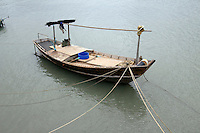 Fishing boat at harbor in the Gulf of Thailand, Ban Phe, Thailand