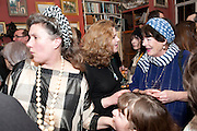 ANNABEL FREYBERG; CHRISTINA FREYBERG; MIN HOGG, Party to celebrate the publication of Animal Magic by Andrew Barrow. Tite St. London. 28 February 2011.  -DO NOT ARCHIVE-© Copyright Photograph by Dafydd Jones. 248 Clapham Rd. London SW9 0PZ. Tel 0207 820 0771. www.dafjones.com.