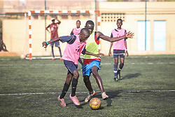 DAKAR, July 13, 2014  Football players of Sports 4 Charity attend a training session in Dakar, capital of Senegal, July 10, 2014. Sports 4 Charity was founded by Senegalese fooball player Salif Diao to help poor youths of Africa have a chance to get an access to education and sports. The young players are provided with funds and facilities and have opportunities to serve European or US footall teams once they finish their trainings.  (Credit Image: RealTime Images)