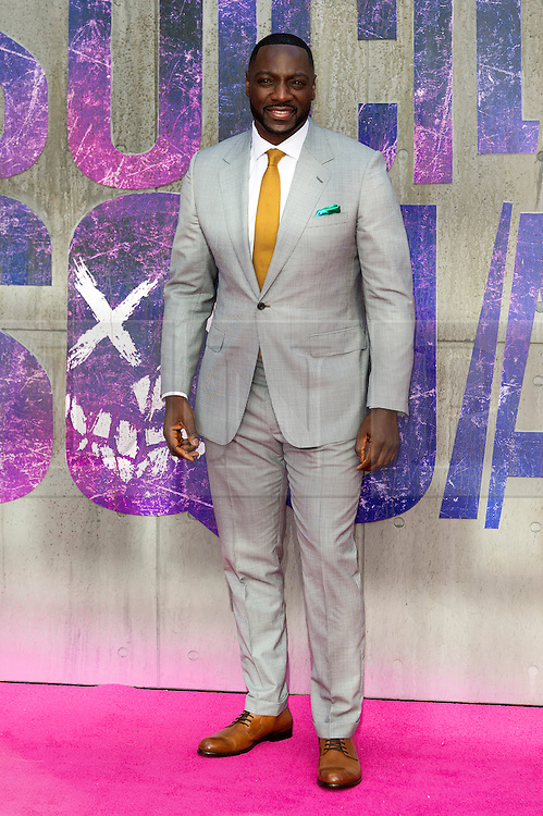 © Licensed to London News Pictures. 03/08/2016. ADEWALE AKINNOUOYER-AGBAJE attends the Suicide Squad UK Film Premiere  London, UK. Photo credit: Ray Tang/LNP