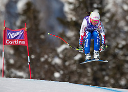 19.01.2013, Olympia delle Tofane, Cortina d Ampezzo, ITA, FIS Weltcup Ski Alpin, Abfahrt, Damen, im Bild Romane Miradoli (FRA) // Romane Miradoli of France in action during the ladies Downhill of the FIS Ski Alpine World Cup at the Olympia delle Tofane course, Cortina d Ampezzo, Italy on 2013/01/19. EXPA Pictures © 2013, PhotoCredit: EXPA/ Johann Groder