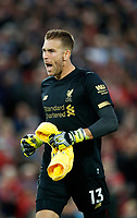 Football - 2019 / 2020 Premier League - Liverpool vs. Norwich City<br /> <br /> Adrian of Liverpool at Anfield.<br /> <br /> COLORSPORT/LYNNE CAMERON