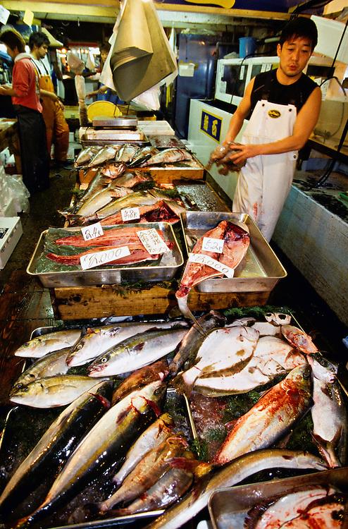 Tsukiji Fish Market (Tokyo Central Wholesale Market), Tokyo, Japan