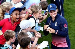 Danielle Hazell of England Women signs autographs for fans - Mandatory by-line: Robbie Stephenson/JMP - 05/07/2017 - CRICKET - County Ground - Bristol, United Kingdom - England Women v South Africa Women - ICC Women's World Cup Group Stage