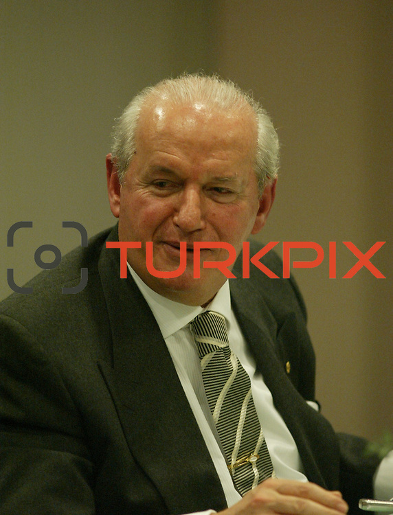 Turkish Soccer...<br /> Turkish Soccer Super League team president Senez Erzik. Kalyon Otel Istanbul/Turkey<br /> Photo by Aykut AKICI/TurkSporFoto