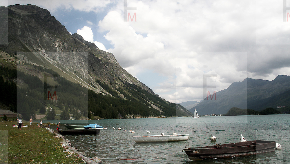 Lago di Silvaplana in Engadina..Silvaplana lake in Engadine