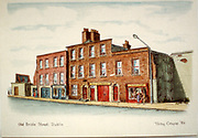 Randon Images of postcard drawings from Ireland, old bridge st dublin. Old amateur photos of Dublin streets churches, cars, lanes, roads, shops schools, hospitals