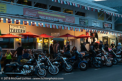Dusk in Weirs Beach during Laconia Motorcycle Week. NH. USA. Tuesday June 12, 2018. Photography ©2018 Michael Lichter.