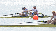 Trackai. LITHUANIA. .GBR BM2X. Bow Jack BEAUMONT and Jonathan WALTON, celebrate after winning the mornin men's double Sculls B Finals, at the .2012 FISA U23 World Rowing Championships.  Lake Galve. ..10:05:04  Sunday  15/07/2012   [Mandatory Credit: Peter Spurrier/Intersport Images]..Rowing. 2012. U23.