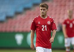 Carlo Holse (Danmark) under U21 EM2021 Kvalifikationskampen mellem Danmark og Ukraine den 4. september 2020 på Aalborg Stadion (Foto: Claus Birch).