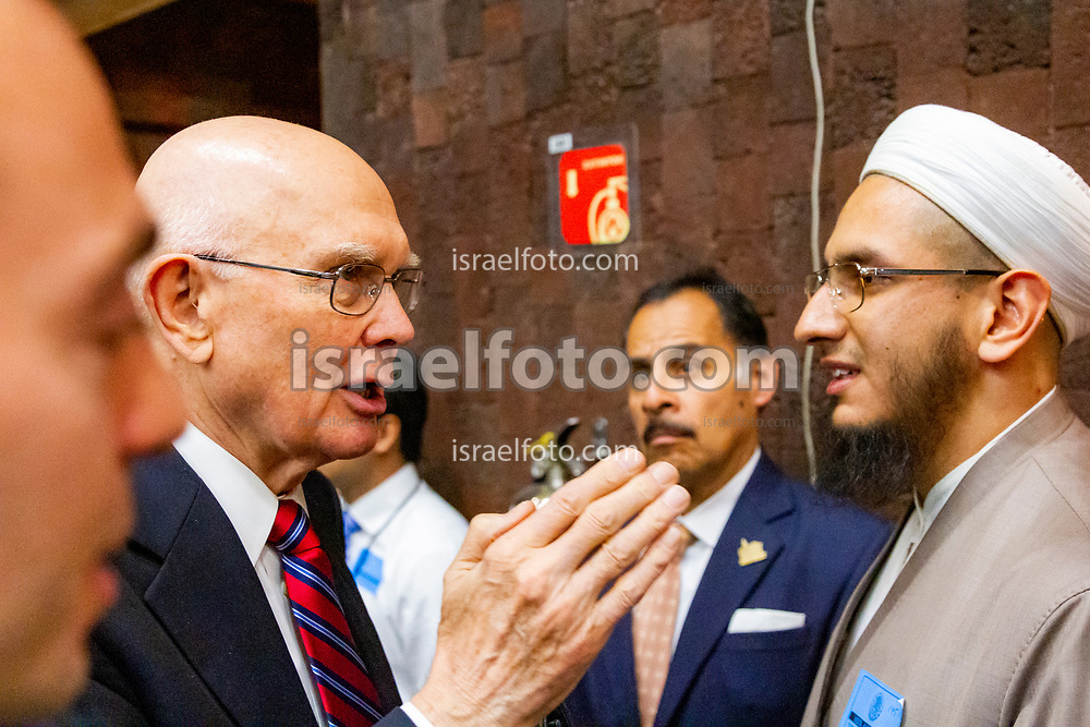 Mexico City, Mexico. January 13, 2017. Elder Dallin H. Oaks, member of the Quorum of the Twelve and a lawyer himself, greets members of the Muslim Community in Mexico at the end of the J. Reuben Clark Law Society Regional Conference.