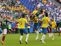 July 2, 2018 - Samara, Russia - July 2, 2018, Russia, Samara, FIFA World Cup 2018, 1/8 finals. Football match of Brazil - Mexico at the stadium Samara - Arena. Player of the national team (Credit Image: © Russian Look via ZUMA Wire)