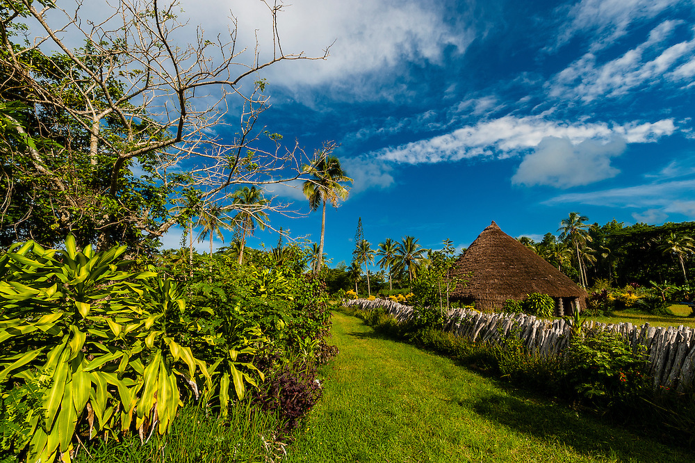 Chieftancy Hut, Hnathalo Tribe, Hnathalo, Lifou (island), Loyalty Islands, New Caledonia