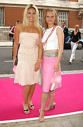 Left to right, BEVERLEY BLOOM and ARABELLA TOBIAS at a charity event 'In The Pink' a night of music and fashion in aid of the Breast Cancer Haven in association with fashion designer Catherine Walker held at the Cadogan Hall, Sloane Terrace, London on 20th June 2005.<br /><br />NON EXCLUSIVE - WORLD RIGHTS