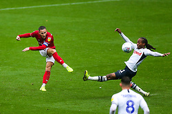 Josh Brownhill of Bristol City shoots past Daniel Johnson of Preston North End - Rogan/JMP - 28/09/2019 - Deepdale Stadium - Preston, England - Preston North End v Bristol City - Sky Bet Championship.
