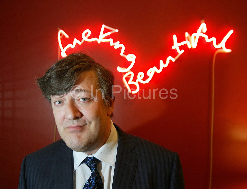 """Stephen Fry (born 24 August 1957) is an English actor, screenwriter, author, playwright, journalist, poet, comedian, television presenter and film director. He first came to attention in the 1981 Cambridge Footlights Revue presentation """"The Cellar Tapes"""". As the comedy double act Fry and Laurie, he co-wrote and co-starred in A Bit of Fry & Laurie, and the duo also played the title roles in Jeeves and Wooster. Known as a prolific user of Twitter, he is currently best known as the tv presenter of BBC1 show QI (Quite Interesting). Stephen Fry has reached the status of 'National treasure' in the eyes of the British public."""