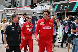 May 25, 2019 - Monte Carlo, Monaco - xa9; Photo4 / LaPresse.25/05/2019 Monte Carlo, Monaco.Sport .Grand Prix Formula One Monaco 2019.In the pic: Christian Horner (GBR), Red Bull Racing, Sporting Director and Mattia Binotto (ITA) Scuderia Ferrari Team Principal (Credit Image: © Photo4/Lapresse via ZUMA Press)
