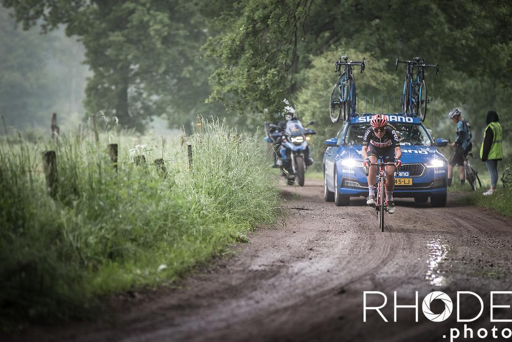 Abby-Mae Parkinson (GBR/Lotto Soudal Ladies) with a solo breakaway attempt <br /> <br /> 1st Dwars Door Het Hageland Women Elite <br /> One Day Race: Aarschot > Diest 122km<br /> Bingoal Cycling Cup 2021<br /> <br /> ©RhodePhoto