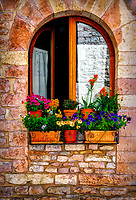 """Beautiful flowers on the windowsill in Assisi""… <br />