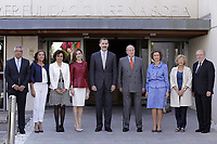 Dolors Montserrat i Montserrat, Minister of Health, Social Services and Equality of Spain, Queen Letizia of Spain, King Felipe VI of Spain, King Juan Carlos, Queen Sofia and Mayor of Madrid Manuela Carmena with the patrons of the Foundation during the 40th anniversary of Reina Sofia Alzheimer Foundation. May 21 ,2017. (ALTERPHOTOS/Pool)
