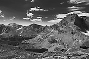 Overlooking Bear Lake and Lizard Head Peak (right)  in the Wind River Range, Shoshone National Forest, Wyoming
