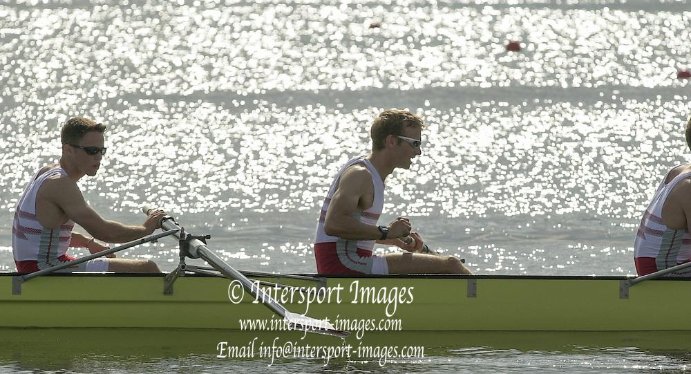 Nottingham, ENGLAND.  <br />  <br />   <br /> Commonwealth Regatta - Nottingham<br /> 20020818<br /> GBR Men's Lightweight 8+