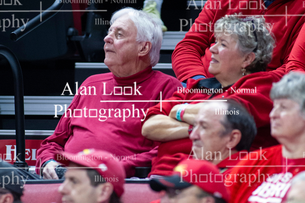 NORMAL, IL - January 19: Superfans Mr. and Mrs. Ed Pyne during a college basketball game between the ISU Redbirds and the Loyola University Chicago Ramblers on January 19 2020 at Redbird Arena in Normal, IL. (Photo by Alan Look)