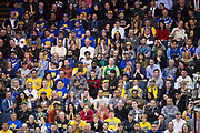 Fans watch as the Golden State Warriors host the Boston Celtics at Oracle Arena in Oakland, Calif., on March 8, 2017. (Stan Olszewski/Special to S.F. Examiner)