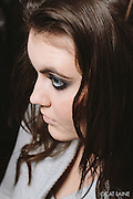 PROVIDENCE, RI - FEB 13: Model Sadie Palmer's smokey eyes for the Alistair Archer show at StyleWeek NorthEast on February 13, 2015 in Providence, RI. (Photo by Cat Laine)