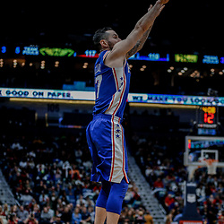 Dec 10, 2017; New Orleans, LA, USA; Philadelphia 76ers forward JJ Redick (17) shoots against the New Orleans Pelicans during the second half at the Smoothie King Center. The Pelicans defeated the 76ers 131-124. Mandatory Credit: Derick E. Hingle-USA TODAY Sports