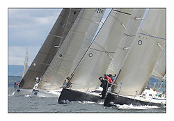 Sailing - The 2007 Bell Lawrie Scottish Series hosted by the Clyde Cruising Club, Tarbert, Loch Fyne..The final days racing had cold steady Northerly breeze to decide the overall placings..IRC Class 1 Start with Jump Juice IRL2007 and Local Hero.
