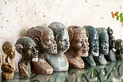 South African Soapstone sculptures on display