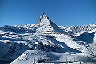 The Matterhorn is one of the most striking mountains in the world, especially with fresh snow.