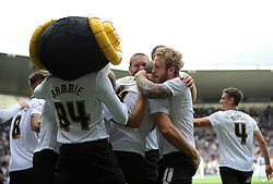Derby County's Chris Martin celebrates with his team mates after scoring. - Photo mandatory by-line: Dougie Allward/JMP - Mobile: 07966 386802 30/08/2014 - SPORT - FOOTBALL - Derby - iPro Stadium - Derby County v Ipswich Town - Sky Bet Championship