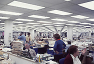 David Browder in the newsroom of the Washington Post in January 1977..Photograph by Dennis Brack bb 21