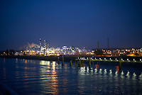 Dawn and Arrival at Antwerp on the MV Explorer. Image taken with a Nikon D800 camera and 50 mm f/1.8 lens.