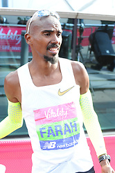 March 10, 2019 - London, United Kingdom - Mo Farrah seen crossing the finishing line during The Vitality Big Half, which has returned for a festival of running and culture to the heart of London in a celebration of the rich and wonderful diversity of the capital city and Finishing it at Cutty Sark. (Credit Image: © Terry Scott/SOPA Images via ZUMA Wire)