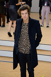 Arrivals for Burberry Prorsum Spring / Summer 2014. <br /> Harry Styles arrives for the Burberry Prorsum Spring / Summer 2014 show, London, United Kingdom. Monday, 16th September 2013. Picture by Chris Joseph / i-Images