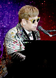NEW YORK, NY - JANUARY 24: Elton John announces 'Farewell Yellow Brick Road' tour dates at Gotham Hall as well as announce that this will be his last Tour on January 24, 2018 in New York City. CAP/MPI/PAL ©PAL/MPI/Capital Pictures. 24 Jan 2018 Pictured: Elton John. Photo credit: PAL/MPI/Capital Pictures / MEGA TheMegaAgency.com +1 888 505 6342