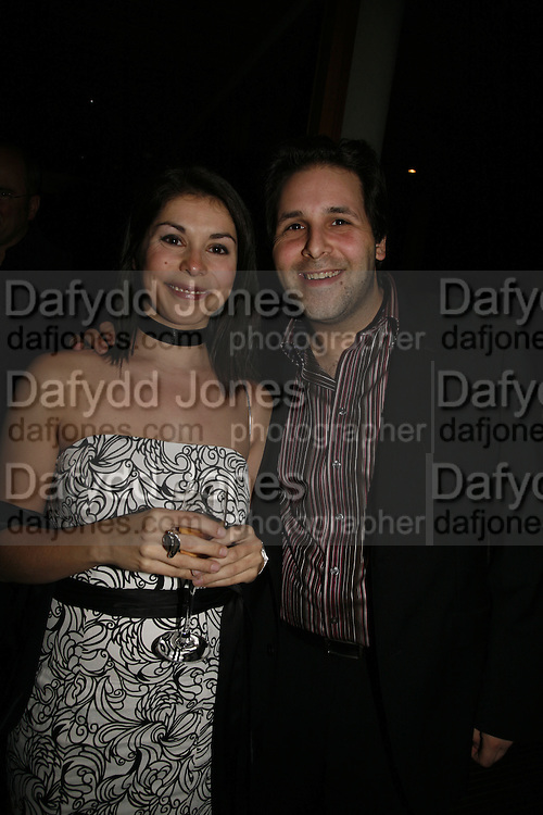 Danielle Tarento and David Babani Press night for Sunday in the Park with George, Inn The Park, St james Park opp ICA. 23 May 2006. <br />ONE TIME USE ONLY - DO NOT ARCHIVE  © Copyright Photograph by Dafydd Jones 66 Stockwell Park Rd. London SW9 0DA Tel 020 7733 0108 www.dafjones.com