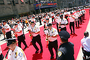NYPD Police Band at the Major League Baseball All-Stars and 49 Hall of Famers ride up Sixth Avenue in All Star-Game Red Carpet Parade Presented by Chevy on July 15, 2008