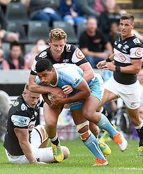 Durban. 250818. Jade Stighling of the Bulls during the Currie Cup match between the Sharks and the Vodacom Bulls at Kings Park stadium, Durban South Africa. Picture Leon Lestrade. African News Agency. ( ANA ).