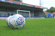 Match balls ready for the warm up - Mitre during the EFL Sky Bet League 1 match between Rochdale and Gillingham at Spotland, Rochdale, England on 15 September 2018.
