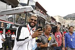 May 26, 2019 - Monte Carlo, Monaco - Motorsports: FIA Formula One World Championship 2019, Grand Prix of Monaco, ..Eric Maxim Choupo-Moting, Kai Ebel (GER, RTL Television) (Credit Image: © Hoch Zwei via ZUMA Wire)